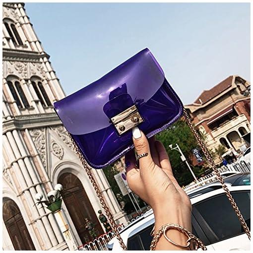 Damen Transparent Casual Kleine Umhängetasche Handtaschen Schultertasche