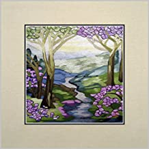 King Silk Art 100% Handmade Embroidery Multiple Unframed 30x30 cm Magnolia And Irises - Louis Comfort Tiffany Oriental Wall Hanging Art Asian Decoration Tapestry Artwork Picture Gifts 37104U_37105W