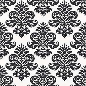rasch 266917 papier peint motif baroque noir blanc bricolage. Black Bedroom Furniture Sets. Home Design Ideas