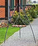 korono schwenk Grill Stabile con telaio telescopico 200cm e ruggine 50cm Acciaio Rivestito In Polvere–Giardino grill per tutte le Feste