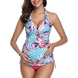 Summer Mae Costumi da Bagno Premaman maternità Tankini Imbottite da Donna