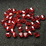 #4: Embroiderymaterial Crystal Beads for Craft and Jewellery Making(Siam 144 Pices)