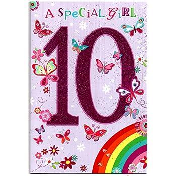 Twizler - Carte de 10ème anniversaire pour fille avec motif gâteau et cupcakes: Amazon.fr ...