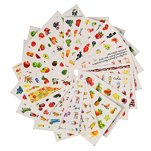 YUYOUG 18 PCS Nail Art Sticker transfert d'eau de fleur Autocollants Stickers Conseils Décoration