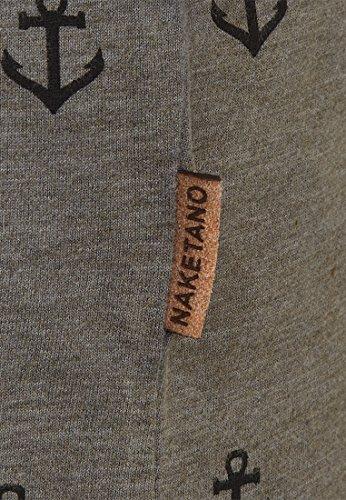 Naketano Male T-Shirt El Master Del Buscho III Heritage Dark Grey Melange