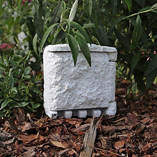 Steinsteckdose SD1 4 fach Steckdosenstein für Garten Gartensteckdose Außensteckdose Stein