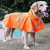 Ltuotu Pet Dog Impermeabili facile da indossare Super impermeabile traspirante e Snowproof (arancione, M)