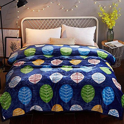 Znzbzt Winter coral Fleece Decken dicker Flanell decken Studenten Nickerchen am Nachmittag mit einem Haufen ist einfach in Bettwäsche twin, 230 cmx 250 cm, Kasuga Blatt Sprache
