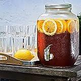 Amethya Dispenser per bevande in vetro con coperchio in metallo (barattolo)