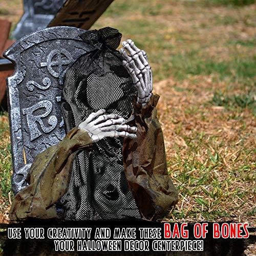 THE TWIDDLERS Halloween Saisonale Dekoration Tasche mit 25 gruseligen Knochen - Perfekt für Halloween Party deko Feiern - Ideal für Party Requisiten - 5