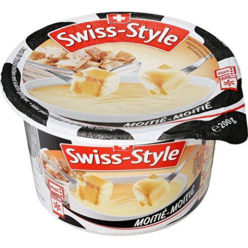 Fondue-Käse Swiss Style 'Moitié-'Moitié' Mini von MIFROMA - 200g, Vacherin Fribourgeois und aus Greyerzer, für einen gemütlichen Fondue-Abend