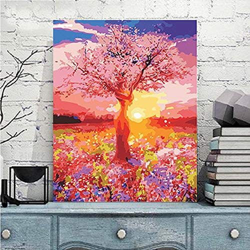 Diy digital painting living room bedroom study decorative painting painted woman tree AI093 - Pre-painted Kit