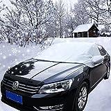 Couverture Pare-brise Frost Voiture, Housse 210d imperméable respirant Ice Snow protection avant pare-brise Petite taille Abri Soleil pour berline avec poches Rétroviseur