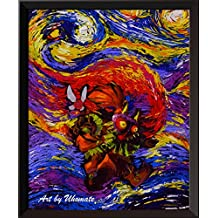 uhomate la Leyenda de Zelda Máscara de Majora The Legend Of Zelda espada decoración de la pared Vincent Noche estrellada de Van Gogh carteles decoración de ...