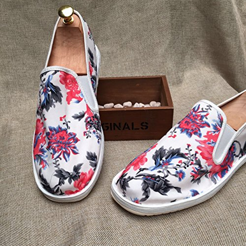LvYuan Unisexe Chaussures en tissu traditionnel chinois / décontracté Retro Breathe Broderie chaussures / Chaussures Kung Fu / Martial Arts / slip-on chaussures Red