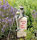 Bronzefigur, Skulpturen, Froschkönig Gunter wasserspeiend , 32 cm hoch