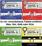 Einladungskarten als Fussballtickets zum Fussball-Geburtstag Feier Party Ticket - 30 Stück Fussballticket Karten Einladung