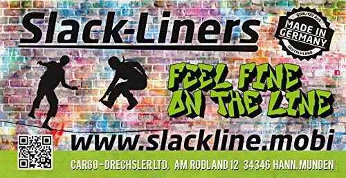 Slack-Liners Set, 15 m lang, 5 cm breit - 7