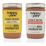 Happy Jars 100% Natural Vegan Creamy Peanut Butter Duo | 290g Each | Super Creamy and Smooth | Gluten Free | Vegan…