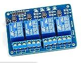 MissBirdler 4-Kanal Relais Relay Modul 5V für Arduino Raspberry Pi Pic AVR Arm MCU