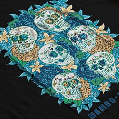Mambo Muerte Skull Death Womens Hooded Sweatshirt Black