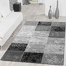 Alfombra Moderna Precio valor cuadros Diseño Salón Alfombra gris negro Top Precio, polipropileno, negro, 60 x 100 cm