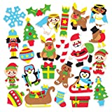 Baker Ross Christmas Foam Stickers (Pack Of 120) For Kids Christmas Crafts And Decorations