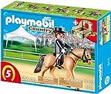 PLAYMOBIL 5111 - Deutsches Sportpferd mit grün-beiger Pferdebox