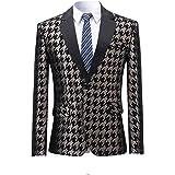 Allthemen Mens Floral Party Dress Suit Stylish Dinner Blazer One Button Jacket Fancy Slim Fit Suits Tuxedo