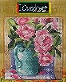 stafil Kit da Ricamo: CANOVACCIO Stampa Fiori, 18X24 cm (Vaso con Rose)