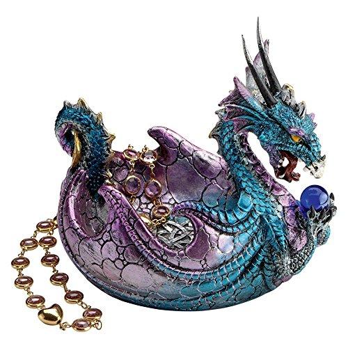Design Toscano QS292895 Vaisseau à Offrande avec Dragon des Rochers Wharncliffe, Multicolore, 14 x 7.5 x 12.5 cm