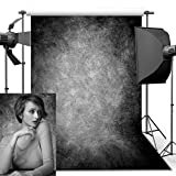 Fotografie Hintergrund, 1.5 x 2.2 m Retro Kunst Zusammenfassung geräucherter Grey Portrait Backdrop für Studio Props Foto Hintergrund