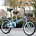 """Xian 20"""" Eltern-Kind Fahrrad 7 Geschwindigkeit Fahrrad Ruhezeit Tandem Fahrrad Doppelsitzer Fahrrad Erwachsene und Kinder, Blau"""