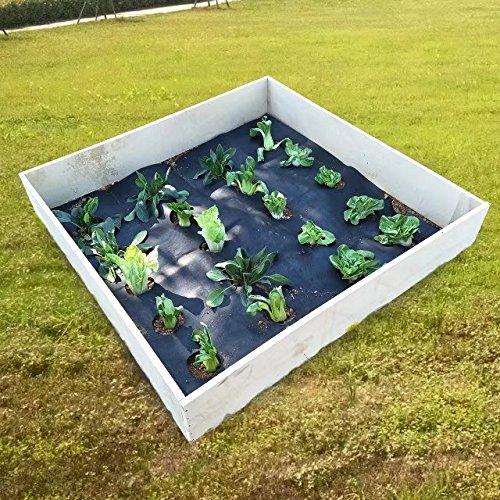 agfabric Landschaft easy-plant Weed Block Mulch, Weed Barrier Stoff mit Bepflanzen Loch, Outdoor Garden Weed Teppiche, Matte, 3.0oz, Loch Dia 15,2cm (schwarz, 4X 3,5M -