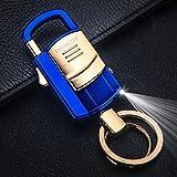 LED Licht mit Feuerzeug, KFZ multifunktional Schlüssel Kette Schlüssel Ring mit Geschenk Anhänger, Black Ice