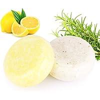 2PCS Hair Shampoo Bar, Phogary Sapone per capelli (Rosmarino + Limone) Varie fragranze Pianta Essenza Shampoo 100% per…