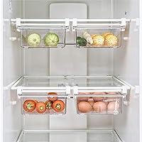 Bac de rangement pour réfrigérateur, organisateur de tiroir coulissant pour réfrigérateur, boîte de rangement à support…