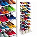 Amazing Shoe Rack Portable With 10 Layer Holds Approx 30 Pairs Shoes Light weight and portable Easy to assembles and dis-assemble Strong metal pipes and plastic parts Easy to fold and store Made of plactic and iron rod 10 layers Holds 20 to 25 pairs ...