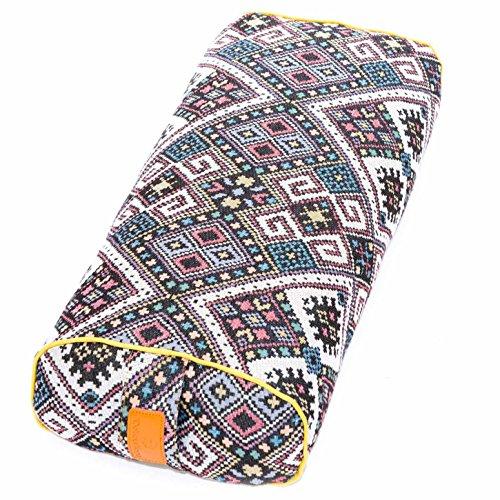 #DoYourYoga Ovales Yogabolster mit Dinkelfüllung (BIO) - waschbarer Bezug & sehr guter Sitzkomfort - Yogarolle Meditationskissen Yogakissen Zafukissen Schlafrolle Rabia - NEW STYLE 3 - Dinkelspelz