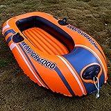 XINGQIANRU Single Scull Multi-Ballon-Kajak-Schlauchboot Angeln Schwimmring Im Freien Faltbar Tragbar