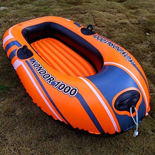 (XINGQIANRU Single Scull Multi-Ballon-Kajak-Schlauchboot Angeln Schwimmring Im Freien Faltbar Tragbar)