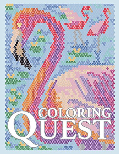 Coloring Quest: Activity Puzzle Color By Number Book for Adults Relaxation and Stress Relief: Volume 7 (Coloring Quest Books)