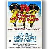 Singen im Regen Film Film Poster Vintage Retro-Stil Leinwand Wand Kunstdruck Bild groß Klein