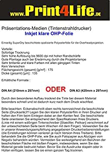 30 Bl. Jet d'encre (encre) OHP OHP Transparents A4 !!!!