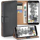 moex Samsung Galaxy S7 Edge | Hülle Dunkel-Grau mit Karten-Fach 360° Book Klapp-Hülle Handytasche Kunst-Leder Handyhülle für Samsung Galaxy S7 Edge Case Flip Cover Schutzhülle Tasche