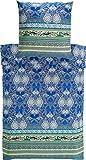 Bassetti 9235360 Bettwäsche, Loto V3, Satin, 200 x 135 x 0,5 cm, blau