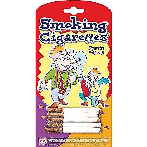 WIDMANN Sigarette Finte Puff, Scherzo Carnevale, Colore Bianco, 4958Q