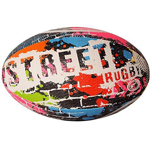 Optimum - Balón de rugby, Negro, Talla:5