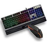 Ant Esports KM540 Gaming Backlit Keyboard and Mouse Combo, LED Wired Gaming Keyboard, Ergonomic & Wrist Rest Keyboard, Progra