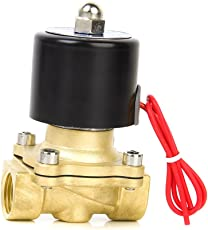 "Generic AC220V 1/2"" Brass Electric Solenoid Valve Water Air Fuels Gas Normal Closed New"